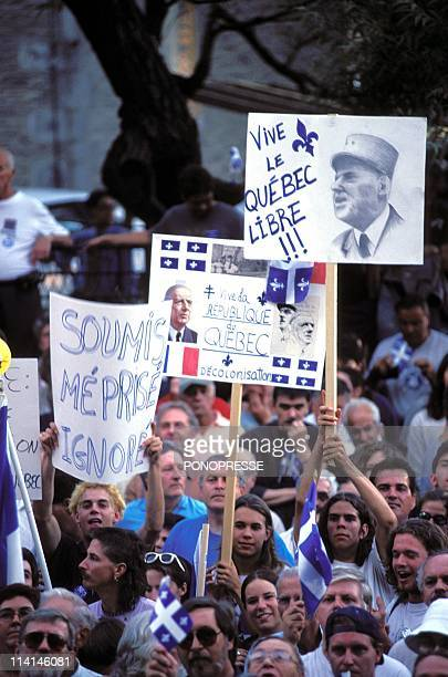30th anniversary of the visit of General De Gaulle in Montreal Canada On July 24 1997