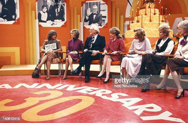 TODAY 30th Anniversary Pictured Current and former TODAY anchors celebrate the 30th Anniversary of TODAY Former TODAY Girls Estelle Parsons Florence...