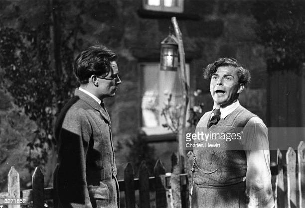 Emlyn Williams and Richard Burton starring in the film ' The Last Days Of Dolwyn' about a disaster for a village in Wales in the 19th century when it...