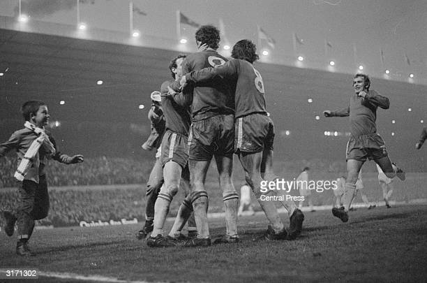 A young fan rushes on to the pitch after Chelsea's Peter Osgood scores the equalising goal in the FA Cup Final replay which Chelsea won 21 after...