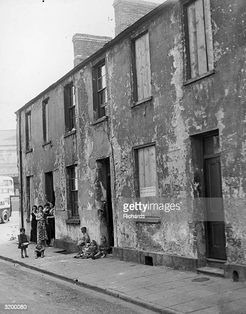 A family living on Scott Street in Cardiff which is to be demolished as part of the slum clearance scheme The tenants are being forced to leave and...