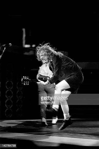 Angus Young of AC/DC performs live on stage at Madison Square Garden in New York City on August 30th 1988