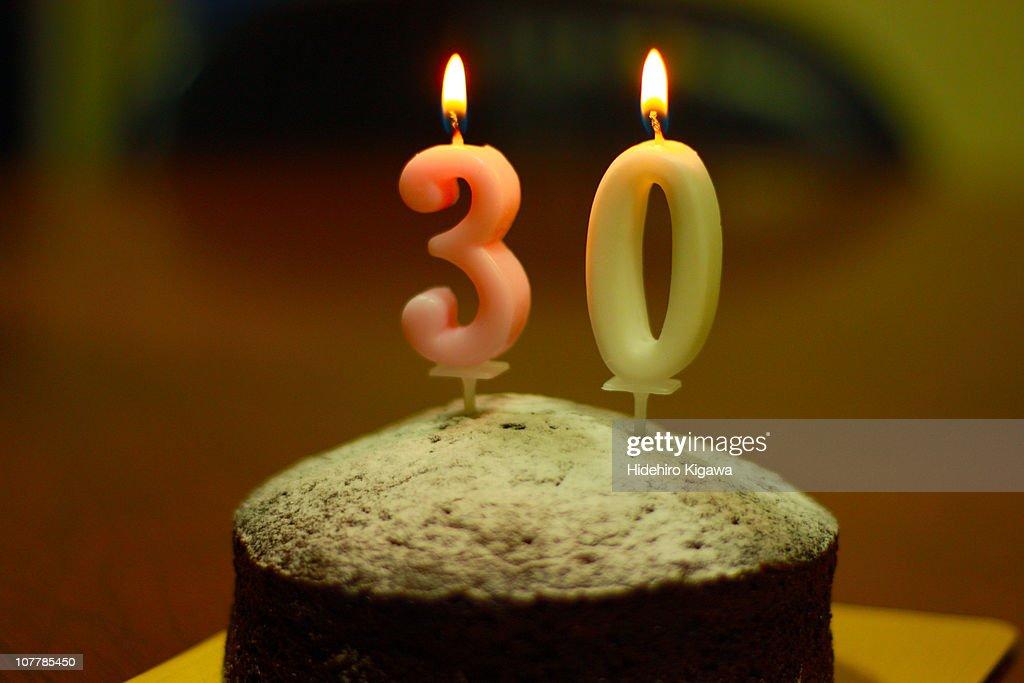 30th Birthday Cake : ストックフォト