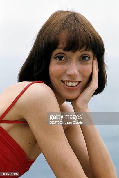 30th Cannes Film Festival 1977: Shelley Duvall. Le 30ème Festival de Cannes se déroule du 13 au 27 mai 1997 : attitude souriante de Shelley DUVALL...