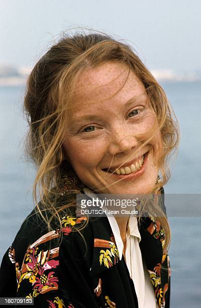 30th Cannes Film Festival 1977: Sissy Spacek. Le 30ème Festival de Cannes se déroule du 13 au 27 mai 1997 : plan de face souriant de Sissy SPACEK.