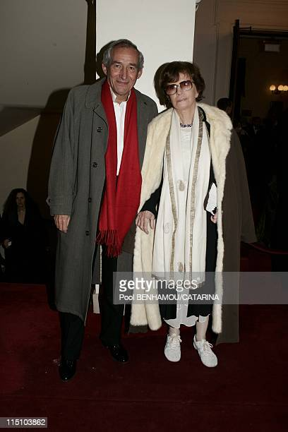 30th Cesar Awards Ceremony at the Theatre du Chatelet in Paris France on February 26 2005 Alain Corneau and Nadine Trintignant