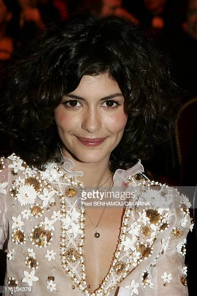30th Cesar Awards Ceremony at the Theatre du Chatelet in Paris France on February 26 2005 Audrey Tautou