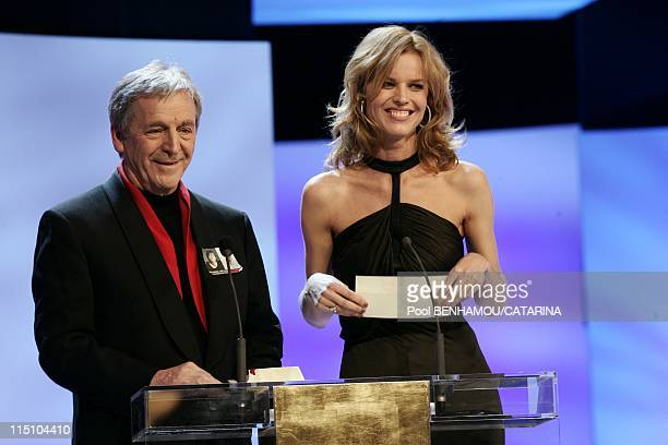 30th Cesar Awards Ceremony at the Theatre du Chatelet in Paris France on February 26 2005 CostaGavras and Eva Herzigova