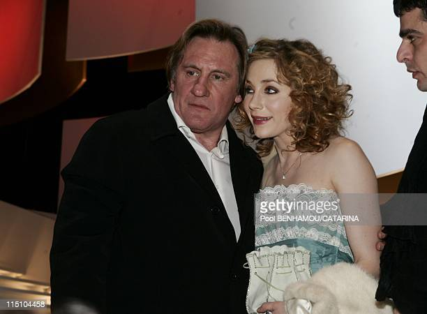 30th Cesar Awards Ceremony at the Theatre du Chatelet in Paris France on February 26 2005 Gerard and Julie Depardieu
