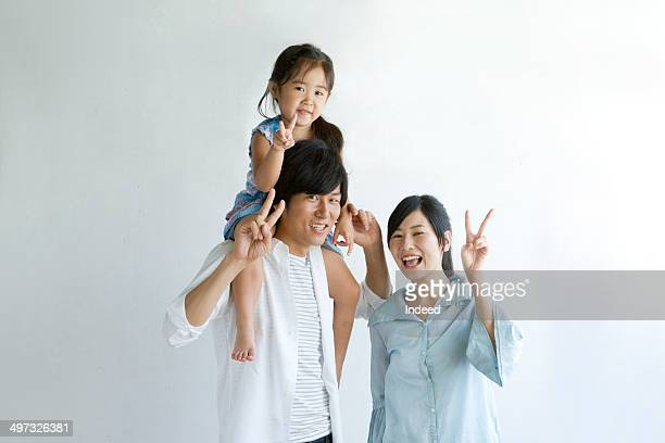 30th generation father, 20th generation mother and a little daughter who play together