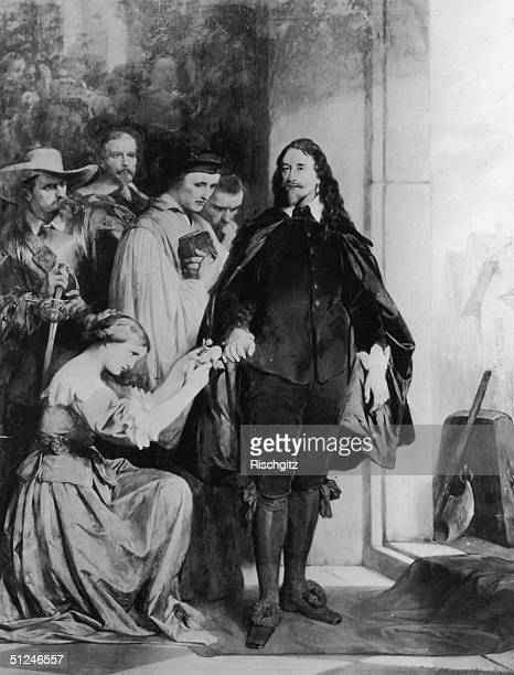 30th January 1649 King Charles I portrayed showing a steadfast courage on his way to the executioner's block at Whitehall London Original Artwork...