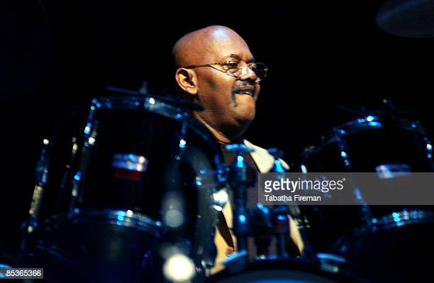 Photo of Uriel Jones @ Royal Festival Hall 30/1/04 Uriel Jones one of the original Funk Brothers on their tour Standing In The Shadows of Motown at...