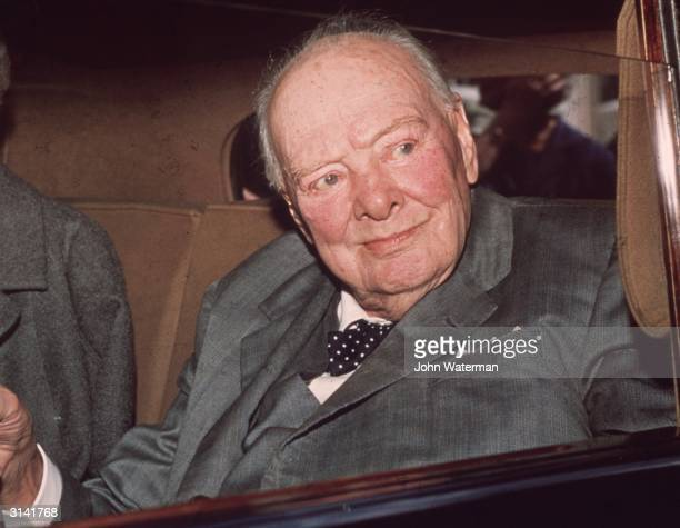 Statesman Sir Winston Churchill leaving London for his country home Chartwell in Kent