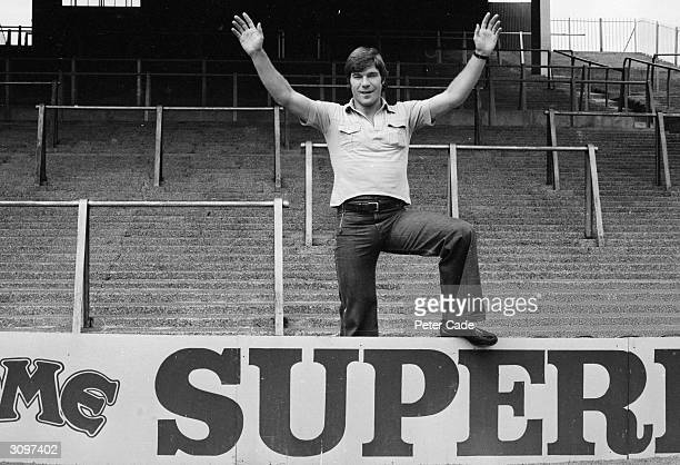 English footballer Malcolm MacDonald at Highbury after signing for Arsenal from Newcastle United