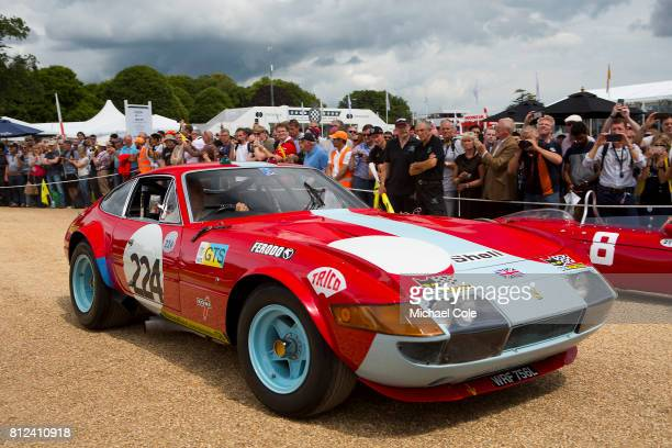 Ferrari 365 GTB/4 Daytona Competizione Celebrating 70 years of Ferrari on the front drive of Goodwood House at Goodwood on 30th June 2017 in...