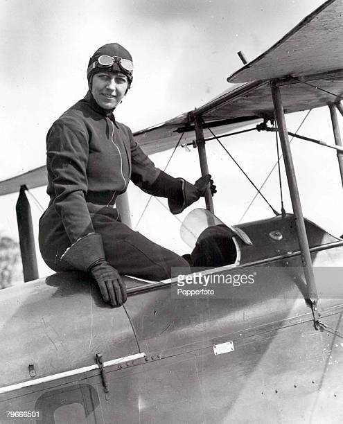 30th March 1930 English aviator Miss Amy Johnson pictured in London prior to her attempt to break the EnglandAustralia flight record She is the...