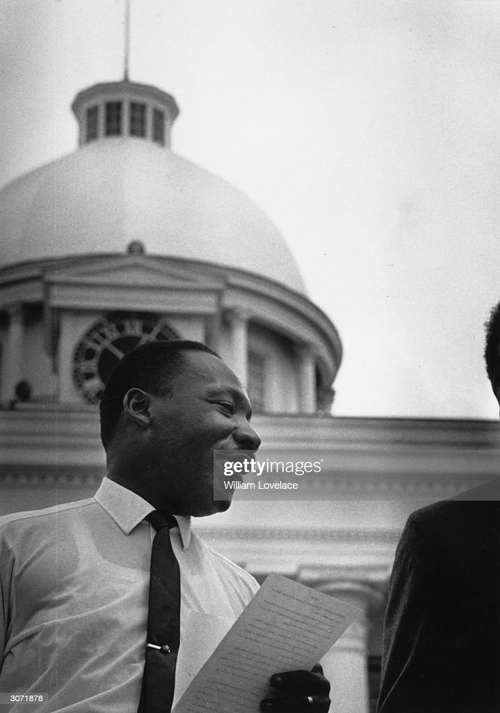 Martin Luther King Jnr (1929 - 1968), American clergyman and civil rights campaigner.