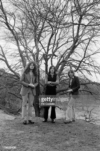 30th MARCH: English rock group Trapeze posed in Wolverhampton, England on 30th March 1973. Left to right: Bassist Glenn Hughes, guitarist Mel Galley...
