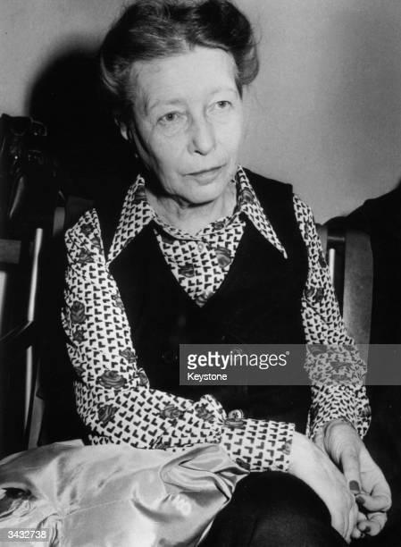 French existentialist and novelist Simone De Beauvoir