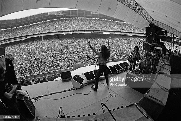 American musician Ted Nugent performs live on stage at the RFK Stadium in Washington DC USA as support for Aerosmith on 30th May 1976