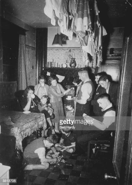 Evacuees staying with a family of seven in the Midlands Original Publication Picture Post 331 Is This Just pub 1940
