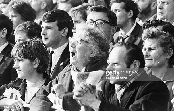 Arsenal supporter Florence Burgess watching a game