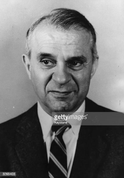 Wassily Leontief, Russian-born American winner of the Nobel Prize for Economics.