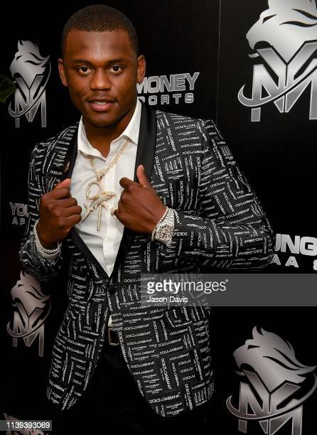 30th Overall pick Deandre Baker arrives at Young Money APAA Sports NFL Draft After Party at 21c Museum Hotel Nashville on April 25 2019 in Nashville...
