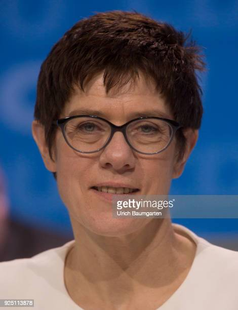 30th Party Congress of the CDU Germany in Berlin Annegret KrampKarrenbauer Secretary General of the CDU during the party congress