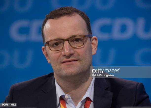 30th Party Congress of the CDU Germany in Berlin Jens Spahn designated Federal Minister of Health during the party congress