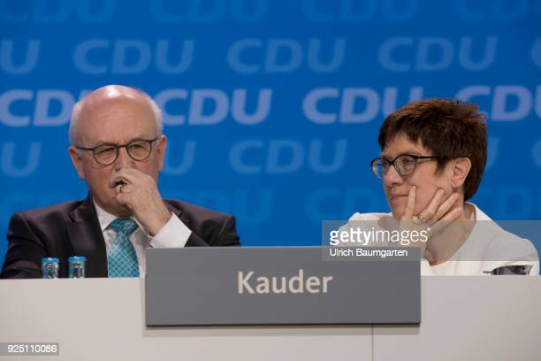 30th Party Congress of the CDU Germany in Berlin Volker Kauder chairman of the CDU/CSU group in the German Bundestag and Secretary General of the CDU...