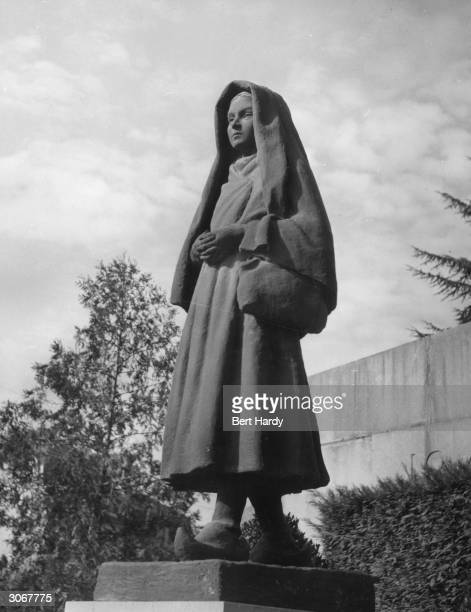 A statue of the 14yearold MarieBernarde Soubirous later St Bernadette who claimed to have seen visions of the Virgin Mary in the grotto of...