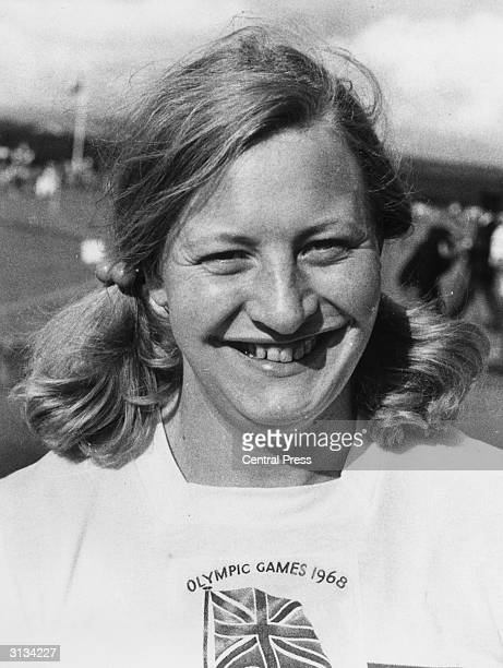 Northern Irish athlete Mary Elizabeth Peters winner of a gold medal for Britain in the Pentathlon event of the 1972 Munich Olympics