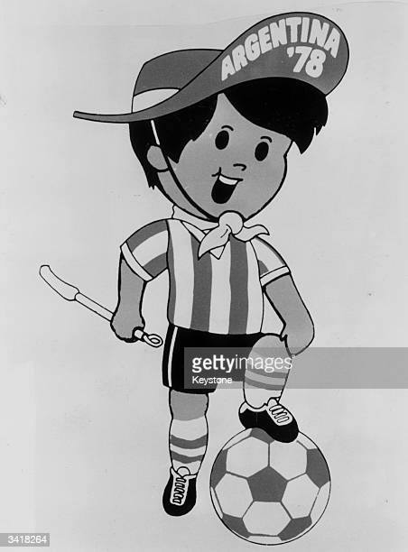 The official mascot for the 1978 Argentina World Cup Soccer Championships representing a typical 'gauchito' child of the Argentine pampas