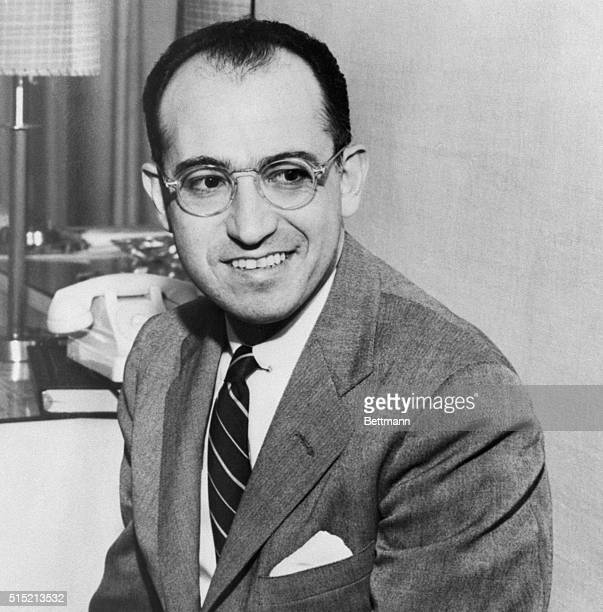 Pittsburgh, PA-ORIGINAL CAPTION READS: Dr. Jonas Salk, head of the University of Pittsburgh group that has developed a polio vaccine, was mentioned...