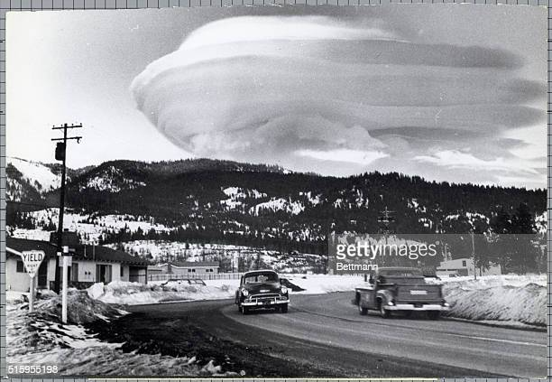 3/11/1966Mt Shasta CA Some people say there's stormy weather ahead Others just say it's a phenomenon when they see weird cloud formations like this...