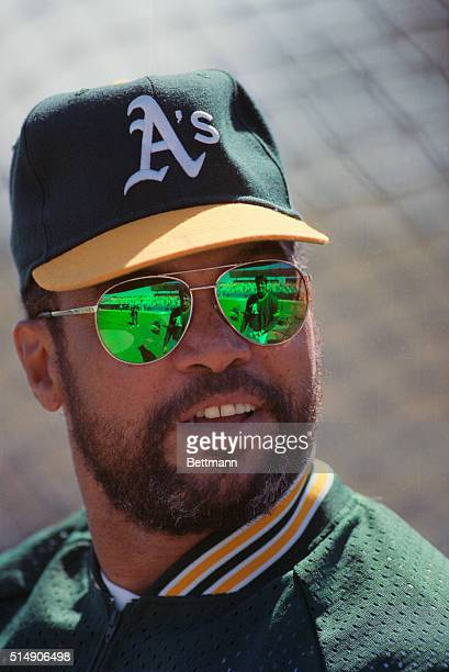 3/11/1991Phoenix AZ Baseball superstar Reggie Jackson reflects his experiences and advice to Oakland Athletics' slugger Jose Canseco while working as...