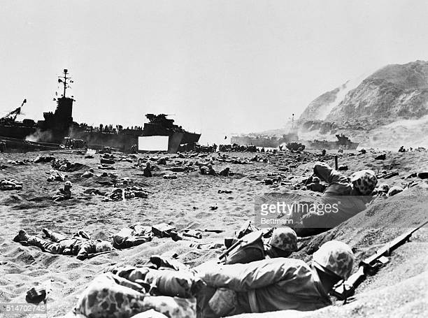 3/1/1945Iwo Jima Japan Ready to Advance To Hell Compressing themselves into the heavy volcanic sand of the beach along the Southeastern coast of Iwo...