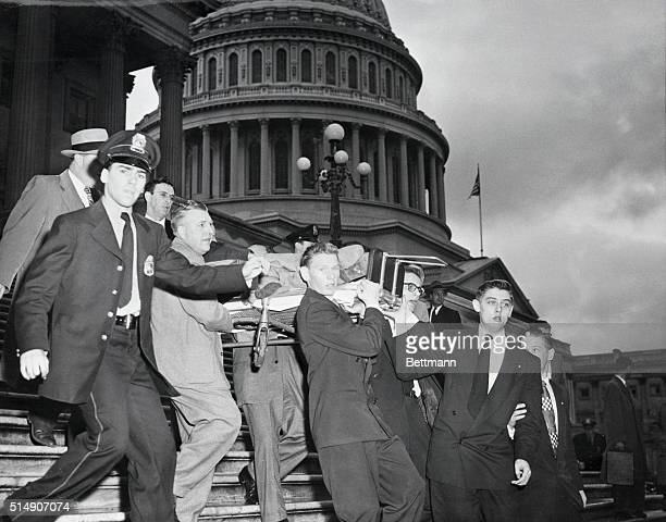 Washington, DC- Representative Kenneth A. Roberts , who was shot in the leg during a demonstrtion by Puerto Rican nationalists in the House of...