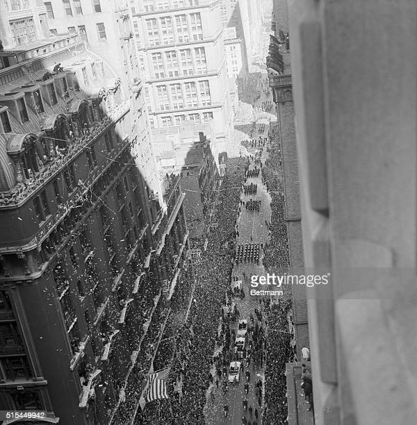 3/1/1962New York New York It's a blizzard of confetti along lower Broadway as the motorcade of astronaut Colonel John H Glenn Jr moves north through...