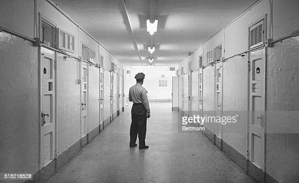3/1/1967Bridgewater MA A guard stands in the hallway of the Massachusetts Correctional Institute from which confessed 'Boston Strangler' Albert...