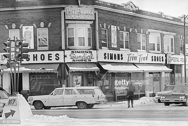 3/1/1967Lynn MA This is Simon's Clothing Store in West Lynn where confessed 'Boston Strangler' Albert DeSalvo surrendered meekly to police after...