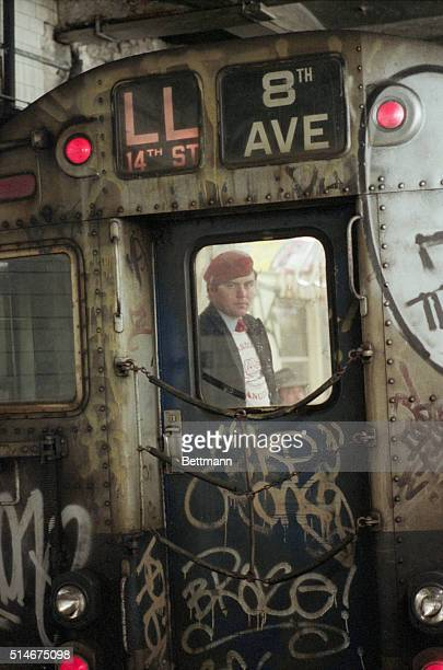 3/13/1985New York NY Curtis Sliwa head of the Guardian Angels in the New York City Subway system PhEzio Petersen