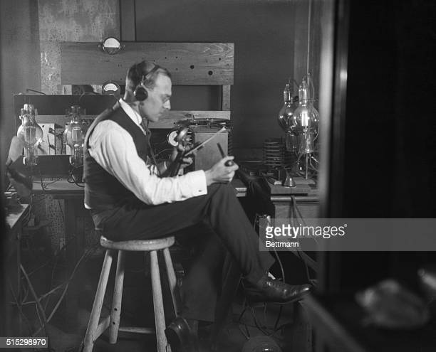 3/15/1924Wilkensburg PAThe little broadcasting set over which the first message was broadcasted in this country marking the birth of a great...