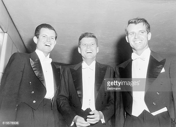 3/15/1958Washigton DC The Kennedy brothers arrive at the Statler hotel here tonight to attend the 73rd annual banquet of Washington's famed Gridiron...