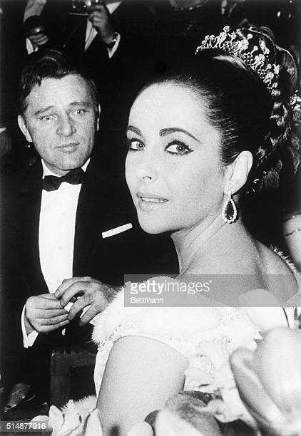 3/15/1963Paris France Elizabeth Taylor and Richard Burton attend the benefit premiere of the film Lawrence of Arabia here 3/15 The pair costar in the...