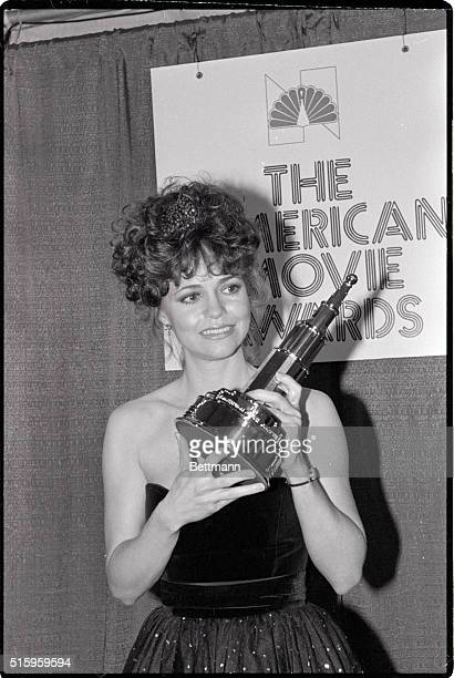 3/15/1982Hollywood CAActress Sally Field is all smiles as she displays her award after being named the 'favorite female film star' at the American...