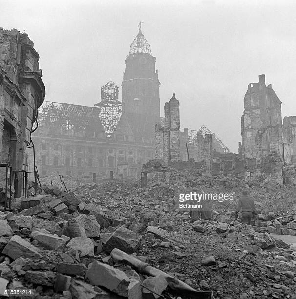 3/16/1946Dresden Germany A view of the German city of Dresden showing the chaotic destruction wrought on this capital of the Kingdom of Saxony by...