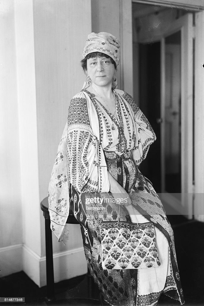Mrs Frank Mebane Wearing Romanian Outfit : News Photo