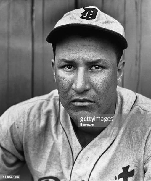 St. Petersburg, Florida-ORIGINAL CAPTION READS: Close-up of Rudy York, young first baseman, at spring training.